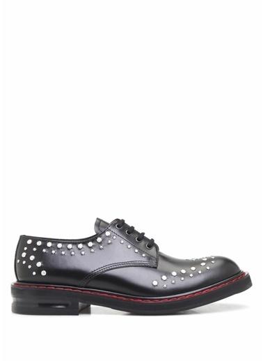 Alexander McQueen %100 Deri Bağcıklı Klasik Ayakkabı Siyah
